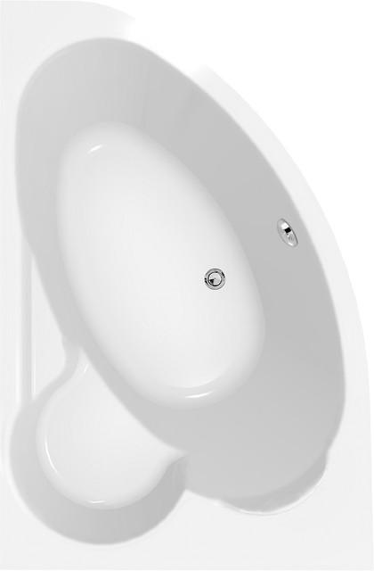 Акриловая ванна асимметричная Cersanit KALIOPE 153 *100 см. правая/левая сторона