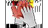 """Перчатки ЗУБР  """"МАСТЕР"""" трикотажные, х/б, обливная ладонь из латекса (L-XL)"""