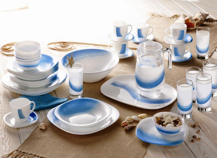 Столовый сервиз Luminarc carine blue wave 46 предметов