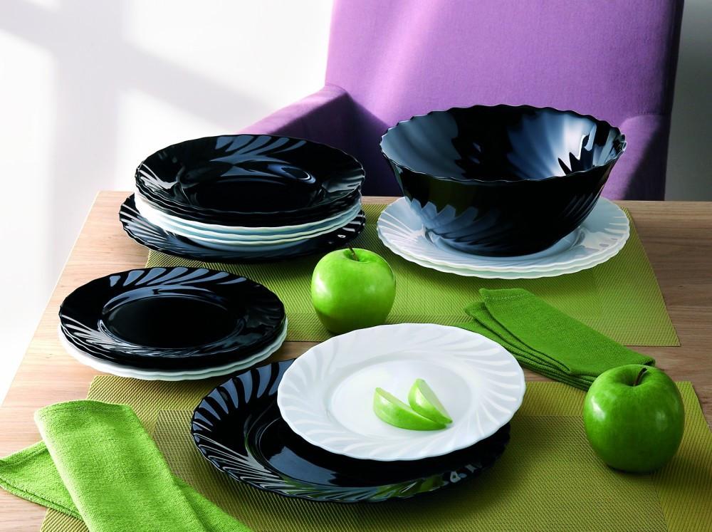 Столовый сервиз Luminarc Trianon white&black 19 предметов на 6 персон