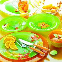 Столовый сервиз Luminarc pop flowers green 19 предметов, фото 1