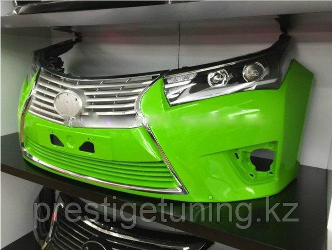 Передний бампер в стиле Lexus на Corolla 2013+