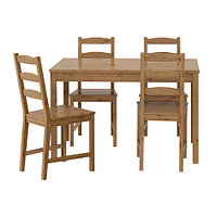 Стол и 4 стула ЙОКМОКК  морилка антик ИКЕА, IKEA