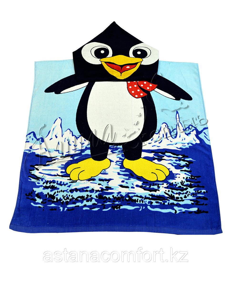 Оригинальное полотенце пончо с капюшоном для детей