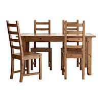 Стол раскладной и 4 стула СТУРНЭС / КАУСТБИ морилка антик ИКЕА, IKEA, фото 1