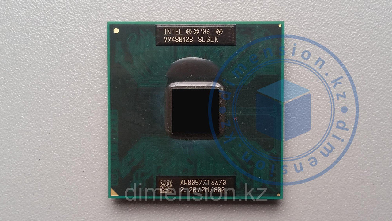 Процессор CPU для ноутбука SLGLK Intel Core 2 Duo T6670, 2M Cache, 2.20 GHz, 800 MHz FSB