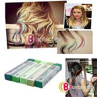 Мелки для волос с зелеными пастельными оттенками (5 цветов), фото 1