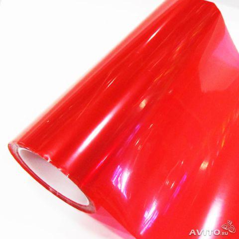 Пленка для фар красная
