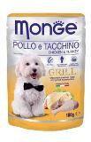 Monge Grill 100г Курица с Индейкой в паучах Влажный корм для собак Pouch with Chicken & Turkey, фото 1