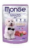 Monge Dog Grill Монж Влажный корм для собак кусочки с Говядиной в паучах, 100 гр, фото 1