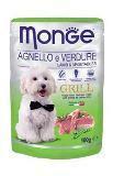 Monge Dog Grill Монж Влажный корм для собак кусочки Ягненок с Овощами, 100 гр, фото 1