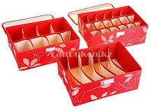 Органайзер  для хранения мелких вещей 3 в 1 (красный)