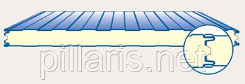 Стеновая сэндвич-панель 200 мм с пенополиизоцинуратом (PIR)