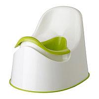 Горшок зеленый ЛОККИГ белый IKEA, ИКЕА, фото 1