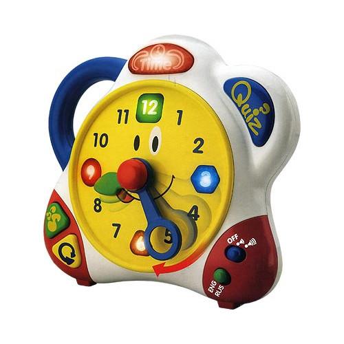 """Интерактивная игрушка """"Говорящие часики"""" (звук, свет, на двух языках)"""