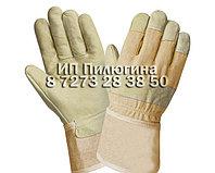 Перчатки кожаные комбинированные, фото 1