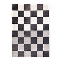 Ковер короткий ворс 160х230 ВРОБИ серый/белый ИКЕА, IKEA , фото 1