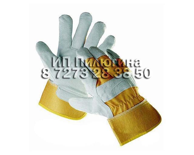 Перчатки комбинированные спилков. (зимняя)