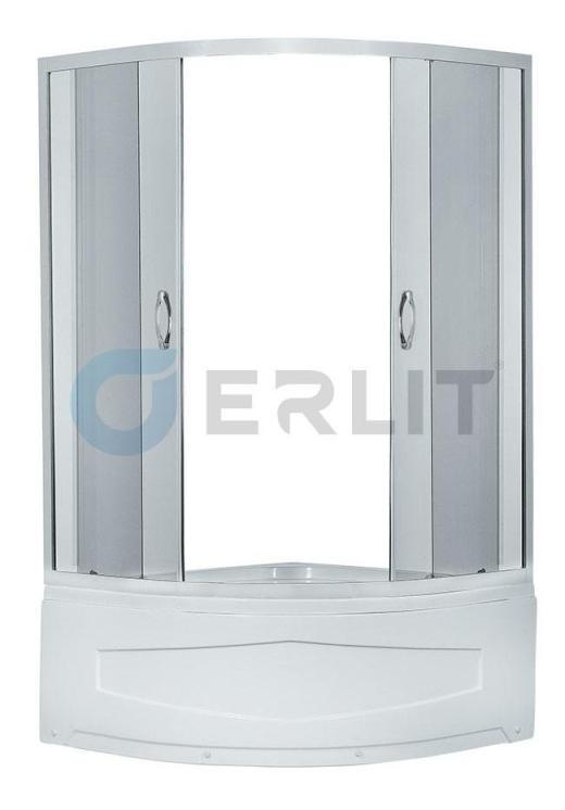 Душевой уголок Erlit  ER0510T- C4 1000*1000*1950 высокий поддон, тонированное стекло