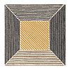 Ковер длинный ворс 200х200 БИРКЕТ желтый/серый ИКЕА, IKEA