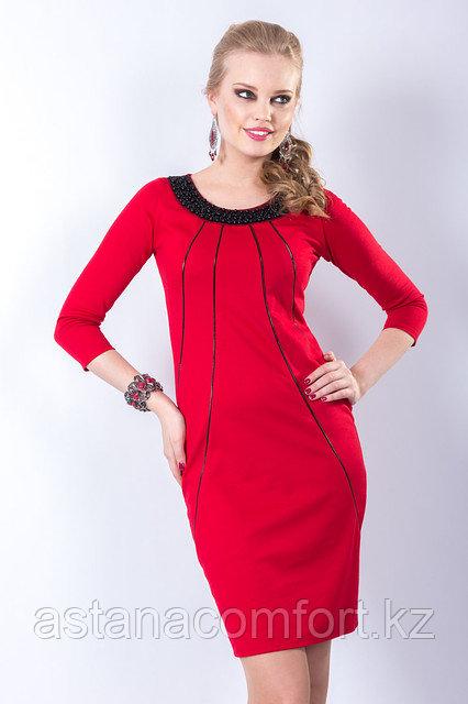 Платье класса люкс приталенного силуэта, 44, 46 р.