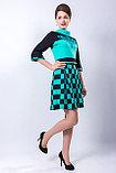 Яркое молодежное платье полуприлегающего силуэта, 42 р., фото 2