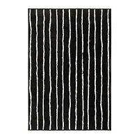 Ковер короткий ворс ГЁРЛЁСЕ черный/белый 133х195 ИКЕА, IKEA