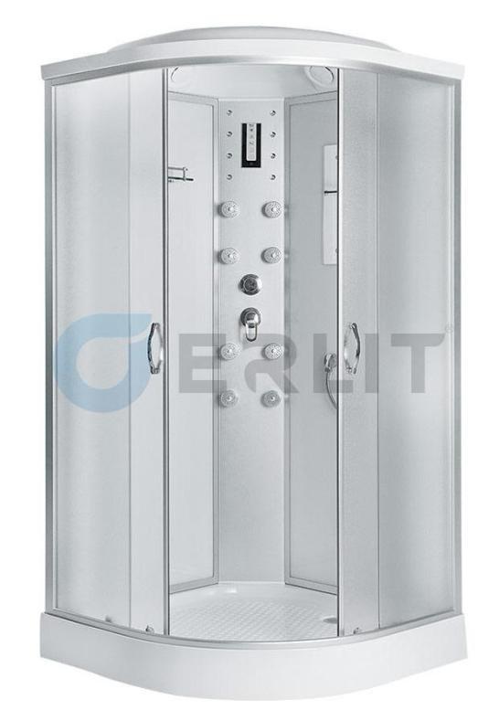 Душевая кабина Erlit ER4509P-C3   900*900*2149 низкий поддон , светлое стекло