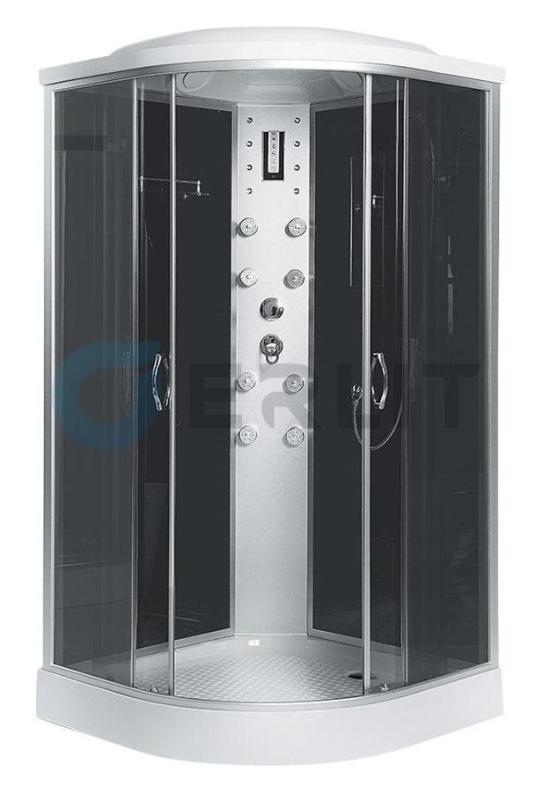 Душевая кабина Erlit ER4509P-C4 900*900*2150 низкий поддон, тонированное стекло