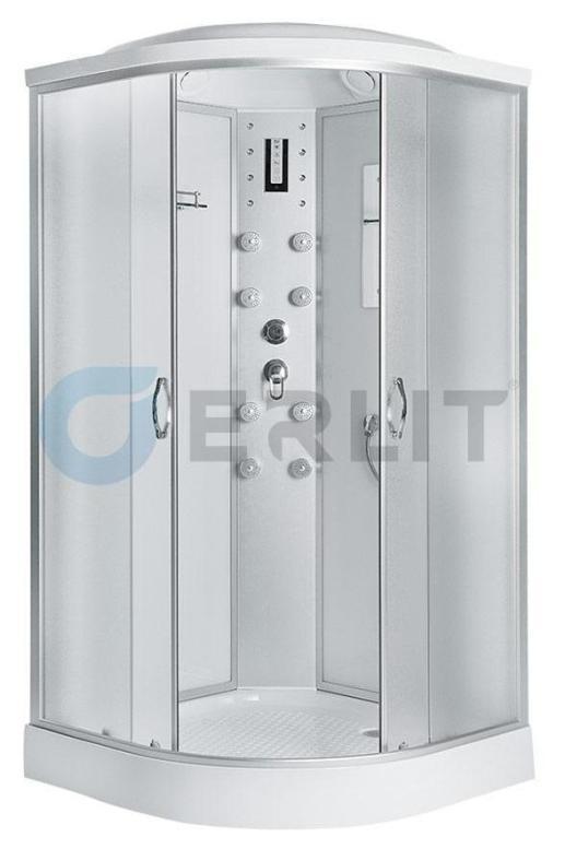 Душевая кабина Erlit ER4510P-C3 1000*1000*2150 низкий поддон, светлое стекло