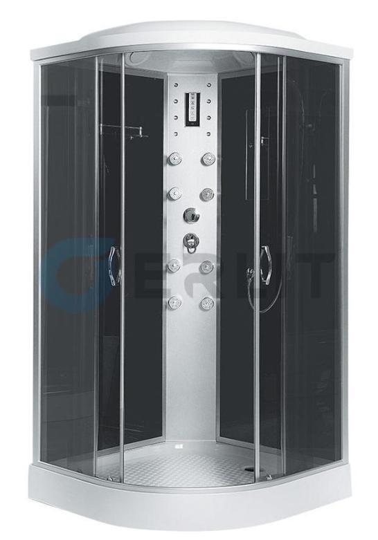 Душевая кабина Erlit ER4510P-C4 1000*1000*2150 низкий (СЕРЫЙ) поддон, тонированное стекло