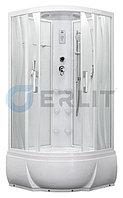 Душевая кабина Erlit ER5509TP-S2 900*900*2150 высокий поддон, светлое стекло (волны), фото 1