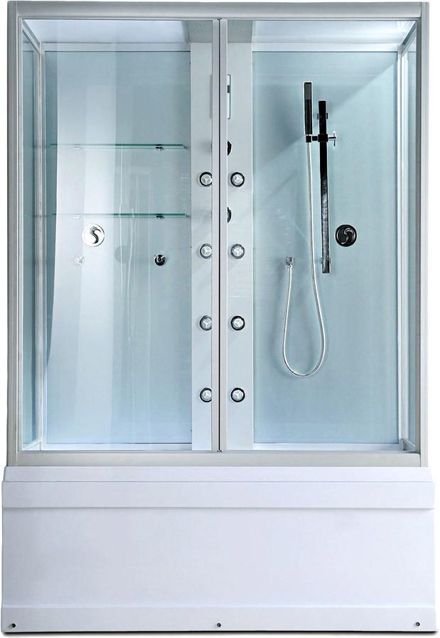 Душевая кабина Erlit  SYD 170-W1 1680*900*2200 высокий поддон, прозрачное стекло