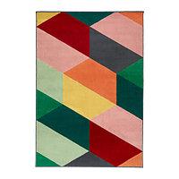 Ковер короткий ворс 133х195 ПАНДРУП разноцветный ИКЕА, IKEA  , фото 1