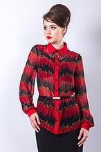 Роскошная рубашка полуприлегающего силуэта из  полотна «шифон». 46 р.