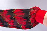 Роскошная рубашка полуприлегающего силуэта из  полотна «шифон». 46 р. , фото 4