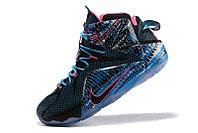 Кроссовки Nike LeBron XII (12) Blue Black Purple (40-46), фото 3