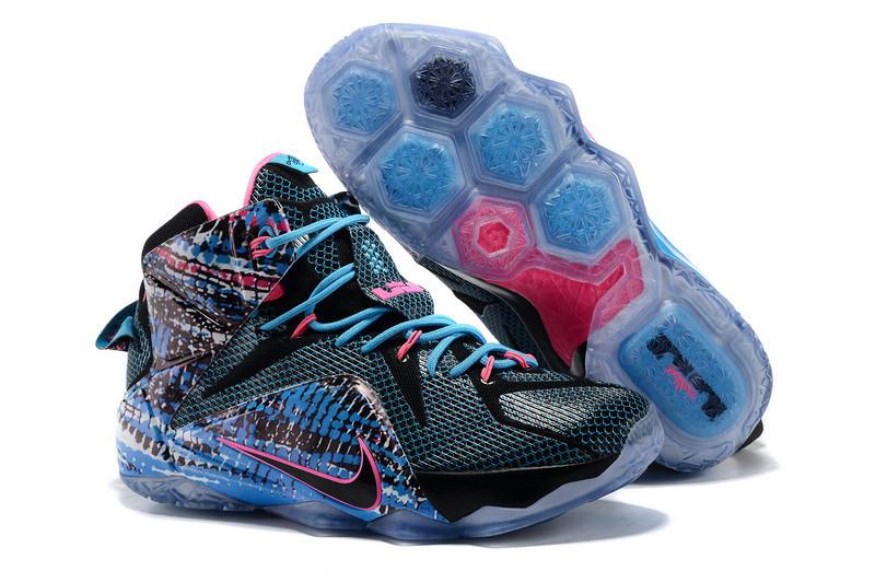 Кроссовки Nike LeBron XII (12) Blue Black Purple (40-46)
