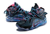 Кроссовки Nike LeBron XII (12) Blue Black Purple (40-46), фото 2