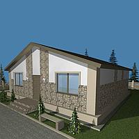 С9-Дом из SIP панелей стандартной планировки 107 м2, высотой потолка 2,5 метра