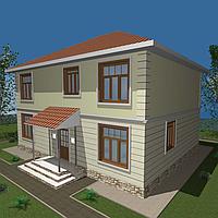 С52-Строительство дома из сэндвич панелей, стандартной планировки 255 м2, высотой потолка 2,85 метра