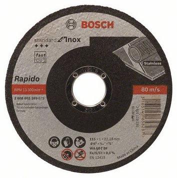 Шлифовальный круг Bosch Inox 180x6мм