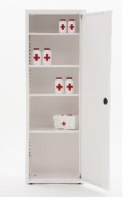 Шкаф медицинский разборный односекционный, 175x60x40 cм МЕТ Валентия 1М