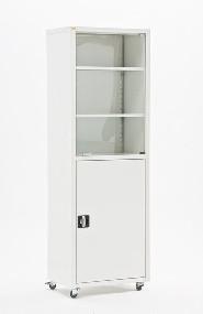 Шкаф медицинский 175х60х40 см, дверки закаленное стекло/металл МЕТ Валентия 1СМ