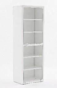 Шкаф медицинский разборный 175х60х40 см, дверки-закаленное стекло МЕТ Валентия 1СС