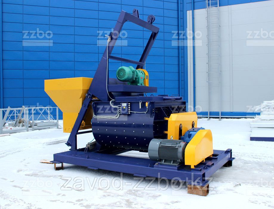 Двухвальный бетоносмеситель БП-2Г-1200с