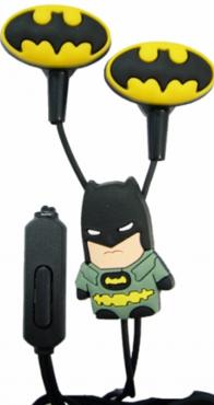 Детские наушники Бэтмен (вкладыши, с разноцветными насадками)