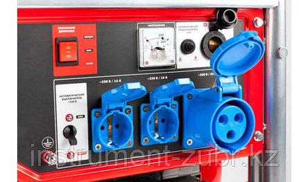 Генератор бензиновый, ЗУБР ЗЭСБ-5500-ЭН, 4-х тактный, ручной и электрический пуск, колеса + рукоятка, 5500/5000 Вт, 220/12 В, фото 2