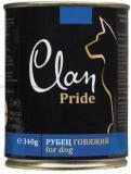 Clan Pride 340г с говяжьим рубцом консервы для собак, фото 1
