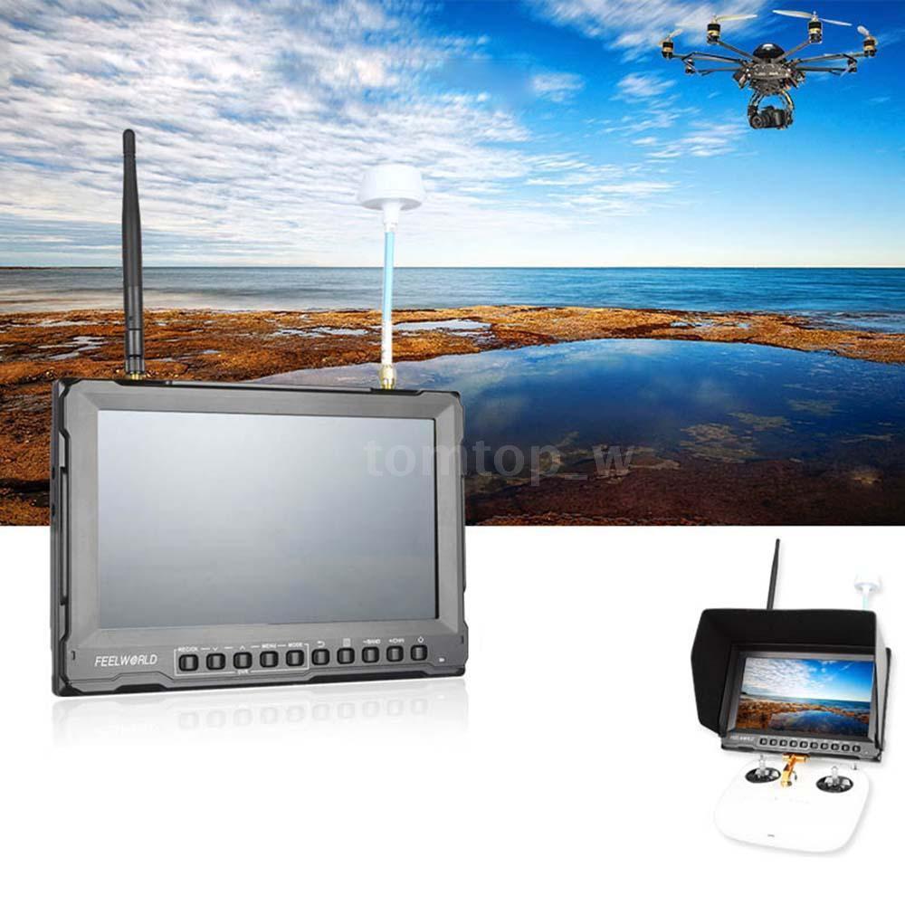 """Монитор Feelworld 8"""" с беспроводным 5.8GHZ приемником видео + передатчик + аккумулятор + зарядка"""